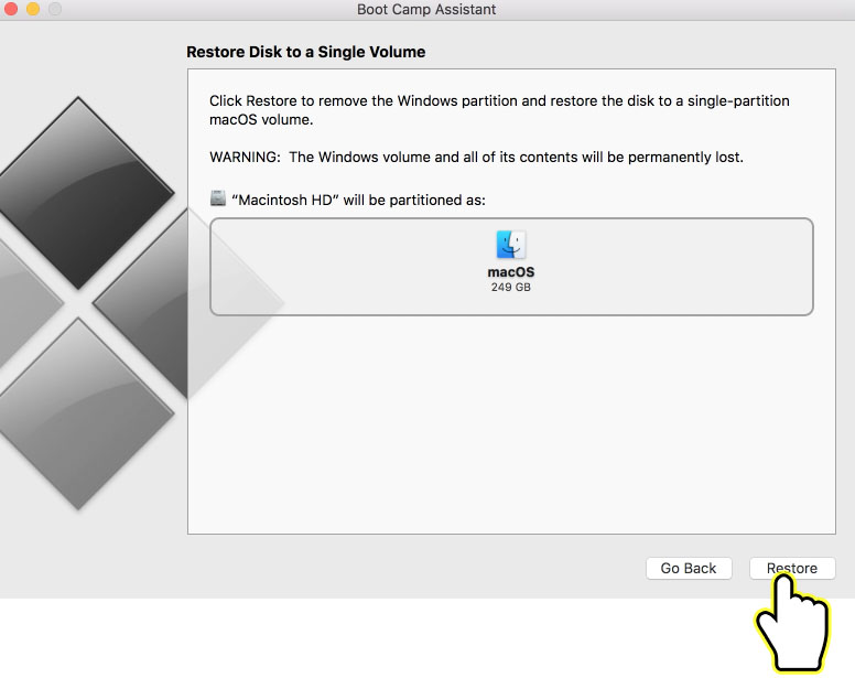 Restore Windows Partition Mac From Boot Camp